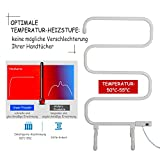 Homcom® Elektrischer Handtuchhalter Handtuchwärmer Heizkörper Freistehend Milchweiß - 3