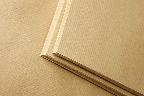 Clairefontaine 975003C Packung mit 25 Blatt Kraftpapier (120g, DIN A2, 42 x 59,4 cm, ideal für Kunstprojekte und zum Einpacken) braun