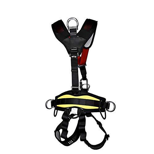 SYue Arneses de Escalada, arnés de Seguridad para Todo el Cuerpo Herramienta Protección contra caídas Arnés para techos Equipo de protección Personal Universal para montañismo Rescate d