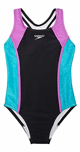 Speedo Little Girl's Thick Strap One Piece Swimsuit (Ceramic, X-Small(5/6))