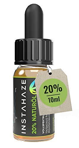 InstaHaze - 20 Prozent Naturöl   Laborgeprüft mit Zertifikat   Hanfsamenöl mit 20 Prozent Hanf - Aroma - Terpenen   Natürliche Inhaltsstoffe   100% Naturprodukt mit Omega 3 und 6 Fettsäuren