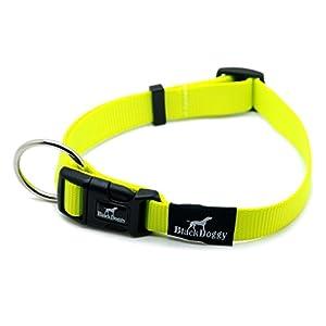 blackdoggy Collier pour chien en nylon classique Basic massif boucle réglable collier de dressage pour chien