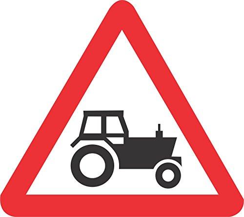 Label - Sécurité - Avertissement - Signal de tracteur Signalisation de sécurité routière 30x30cm bureau, entreprise, école, hôtel