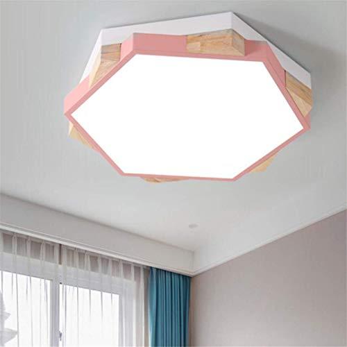 GD1 Plafonnier Nordic Simple Rose Lampes Chambre à Coucher Forme Géométrique Personnalité Petit Appartement Coréen Creative LED Lampe de Chambre
