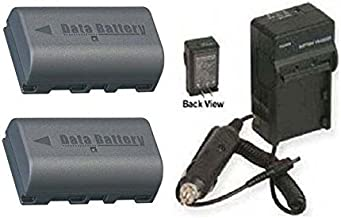 2 Batteries + Charger for JVC GY-HM100, JVC GY-HM100E, JVC GY-HM100U, JVC GZ-HD3, JVC GZ-HD3E, JVC GZ-HD3U