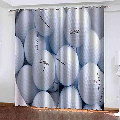 TPBUVQ Tenda Oscurante Finestra Termica Isolante Pallina da golf bianca 140x260cm x2 con Occhielli per Soggiorno Tende Oscuranti Bambini Camera da Letto per Interni Finestre