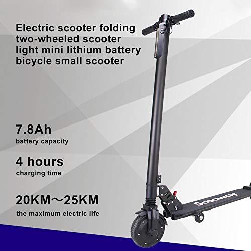 AIMERKUP Monopattino Scooter Elettrico Pieghevole,Motore 250W,25Km di autonomia, Batteria Ricaricabile da, Fino a 25km/h, 3 modalità di velocità, Pneumatico Anti-Scivolo Posteriore Solido da workable