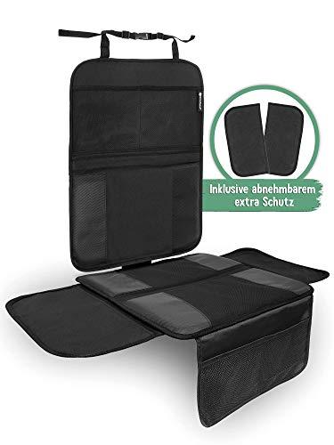 KidsPoint Autositzschoner Kindersitzunterlage - Sitzschoner für Kindersitz, Babyschale, Maxi-Cosi & Reboarder geeignet. Autositzauflage ISOFIX Kompatibel…