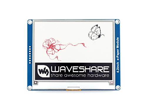 Waveshare 4.2 Inch E-Paper Display Module(B) Kit 400x300 Resolution Three-Color E-Ink Screen Electronic Paper Module with Embedded Controller for Raspberry Pi/Arduino/Nucleo via SPI Interface