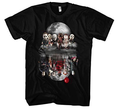 Evil Six heren T-shirt | Horror Halloween Nightmare Freddy Michael Myers Jason Clown Friends