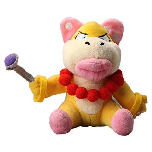 uiuoutoy Wendy O. Koopa Plush 7'' Super Mario Bros. Doll Toy
