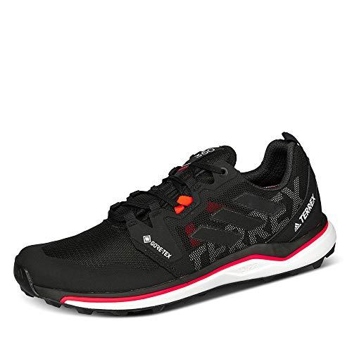 adidas Terrex Agravic GTX, Zapatillas de Running Hombre, NEGBÁS/NEGBÁS/Rojsol, 40 2/3 EU