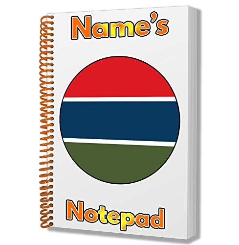 Gepersonaliseerd cadeau - Gambia Vlag A5 Kladblok/notitieboekje - Cadeau - Verjaardag - Kerstmis - Kachelvuller - Geheime Kerstman - ADD Elke naam