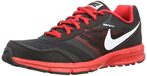 Nike Men's Air Relentless 4 Black/White/University Red/Metallic Slvr Running Shoe 8.5 Men US
