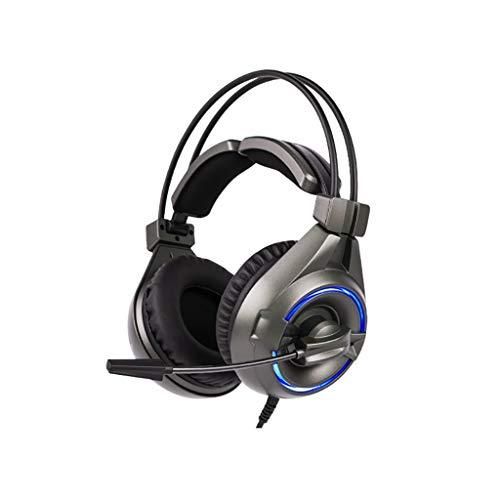 ZZL Casque de Jeu Câblé Bruit Annulation du Micro Et 7.1 Son Surround Compatible avec Xbox PS4 PC PCTOP Bureau