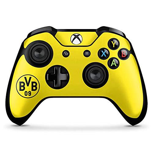 DeinDesign Skin kompatibel mit Microsoft Xbox One X Controller Aufkleber Folie Sticker Borussia Dortmund BVB Logo Gelb