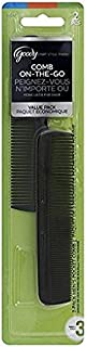 Goody Men's Pocket Comb, Black, 2 Count