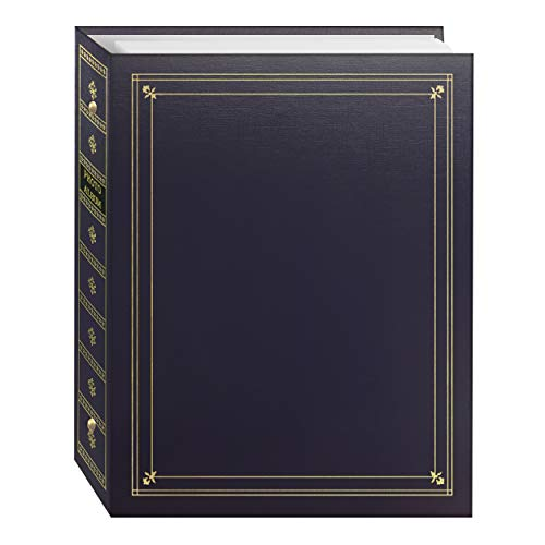 Pioneer Photo Albums APS-247/BB 3-Ring Bound Bay Blue Leatherette Cover with Gold Accents Photo Album for 4 by 7-Inch, 5 by 7-Inch and 8 by 10-Inch Prints