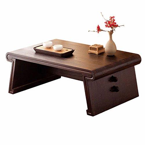 Massivholz Couchtisch japanische rechteckige Couchtisch Retro-Erker Tisch Tatami Tisch Zen Schreibtisch antike Teetisch niedrigen Tisch abnehmbar (Size : 60x40x33cm)