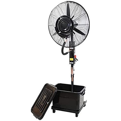 WCYPOT Ventilador de Pedestal Ventilador de rociado Industrial, Ventilador de pie oscilante de 3 velocidades, Tanque de Agua Grande de 42 L, Ventilador de refrigeración eléctrico de pie, Apto para