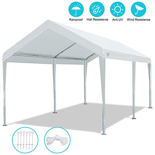 ADVANCE OUTDOOR 10 x 20 FT Heavy Duty Carport Car Canopy Garage Shelter Party Tent, Adjustable...
