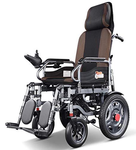 CanKun High-Back Full Reclining Elektro-Rollstuhl, Doppel-Motor 250W, Folding Licht Elektro-Rollstuhl, Dual Mode Switchingload-Bearing120kg