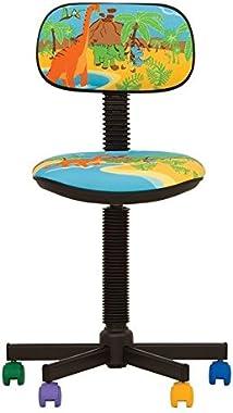 BAMBO- Chaise DE Bureau Enfant Ergonomique, Hauteur du SIÈGE 42 cm-56 cm. Hauteur Dossier RÉGLABLE/SIÈGE PIVOTANT A 360°/ rou