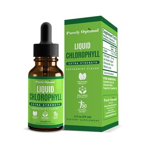 Premium Chlorophyll Liquid Drops - 100% Natural & Gluten Free Liquid...