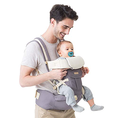 Unichart 360 All Carry Positions Baby Carrier Baby Hip Seat Carrier(Grey)