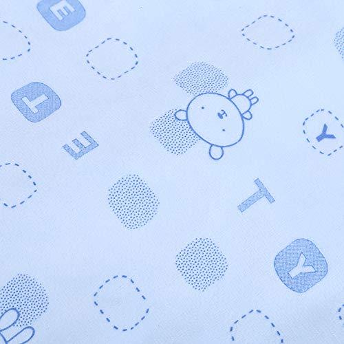 Pañuelo para niños pequeños, toalla de baño suave para bebés recién nacidos con etiquetas de colores para los sentidos para la audición del bebé(azul)