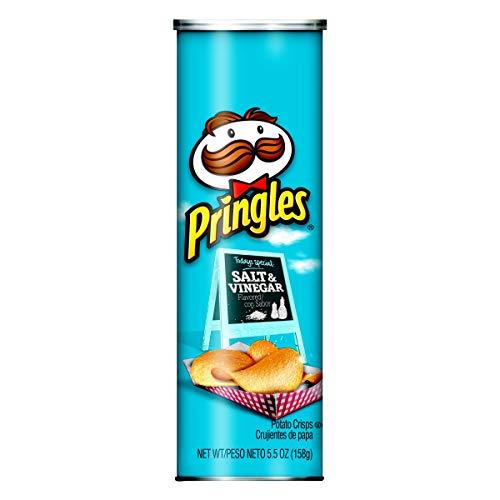 Pringles Potato Crisps Chips, Salt and Vinegar Flavored, 5.5 oz Can