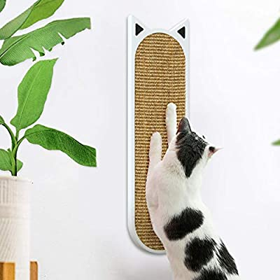 THUNDESK Wall Mounted Cat Scratcher- Wall Mounted Cat Scratching Pad for Improving Kitty's Health and Behavior- Cat Scratching Post