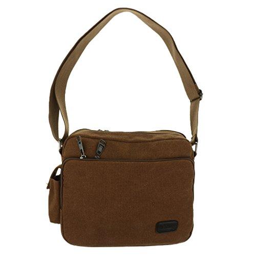 kowaku Vintage Retro Shoulder Messenger Bag Haversack Satchel Sling Pack - marrón, un tamaño