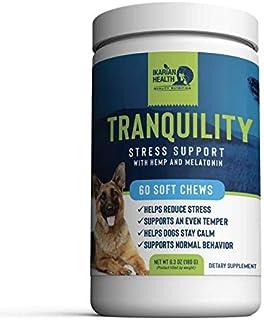 Ikarian Health - کمک به آرامش سکون برای سگ ها - کنف ، ملاتونین ، بابونه ، گل شور - اضطراب ترکیبی و استرس برای مسافرت ، آتش بازی ، جدایی یا طوفان - 60 درمان نرم جویدن