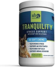 Best Ikarian Health - Tranquility Calming Aid for Dogs - Hemp, Melatonin, Chamomile, Passion Flower - Composure Anxiety and Stress Support for Travel, Fireworks, Separation or Storms - 60 Soft Chew Treats Review