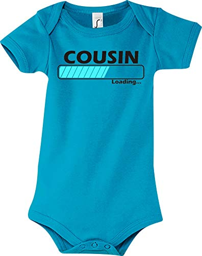 Shirtstown Baby Body Cousin Chargement - Bleu Clair, 6-12 Monate