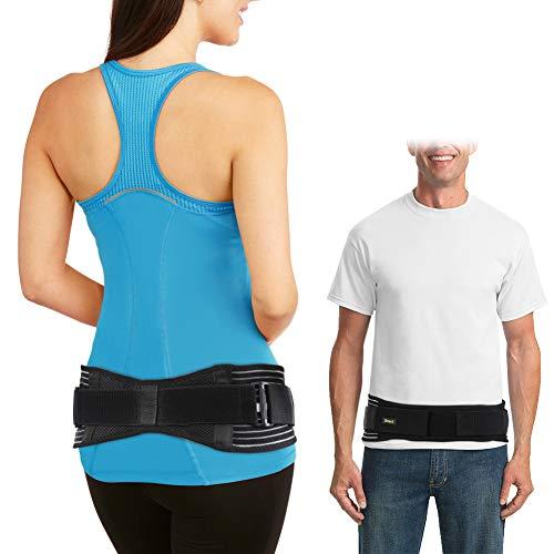 Doact Sacroiliac SI Belt, Ajustable Cinturón Sacroilíaca para Alivio del Dolor de Articulación SI, Paréntesis de SI para Espalda Baja y Dolor de Ciática Adecuado para Mujeres y Hombres(L/XL)
