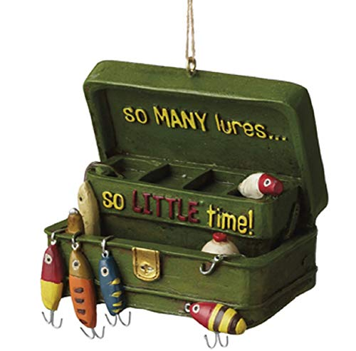 Midwest 3' Green Fishing Tackle Box So Many Lures? Fisherman Christmas Ornament