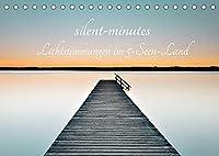 silent minutes - Lichtstimmungen im 5-Seen-Land (Tischkalender 2022 DIN A5 quer): Lichtstimmungen von Seen und Stegen (Monatskalender, 14 Seiten )