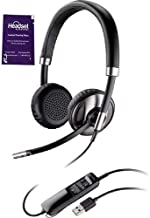 $99 » Plantronics Blackwire C725 USB Wired Headset with ANC Bundle with Headset Advisor Wipe (Renewed)