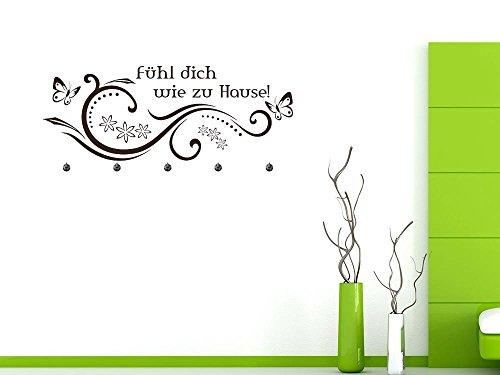 Graz Design wandtattoo garderobe met 5 haken inbegrepen Maak jezelf thuis ornamenten