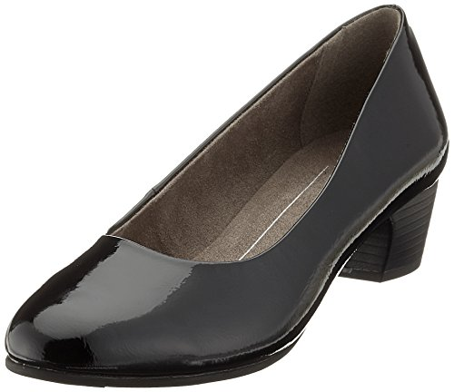 Softline Damen 22360 Pumps, schwarz (black patent), 39 EU