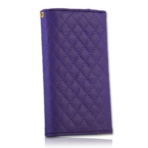 Handy Tasche Fliptasche Flip Book Etui Hülle Case Kunstleder lila / violett book8 für Nokia Lumia 900 / Huawei Ascend D quad / Huawei Ascend D quad XL / Sony Xperia Ion / Huawei U9200 Ascend P1 / Samsung Galaxy S2 i9210 LTE / Samsung Galaxy Nexus / Base Lutea 2 - 4