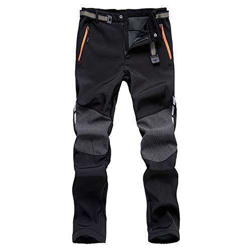 DEKINMAX Pantaloni Invernali Uomo Pantaloni Caldi Impermeabili Pantaloni Termici per Sci Trekking Alpinismo Esterno Sport (L)