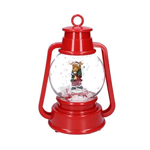 DUE ESSE CHRISTMAS S.r.l. Lanterna PLASTICA CM.22 con Luce E Movimento Neve