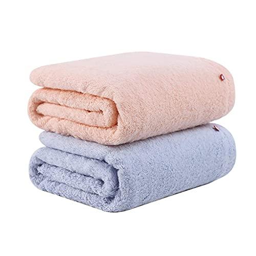 Toalla de baño Toalla de Ducha de baño Toallas de Mano Toallas de baño Toallas de baño Resistentes a la decoloración Color Puro Secado rápido Toallas de algodón Suave SPA Gimnasio (Paquete de 2) TOA