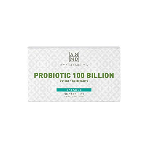 Dr. Amy Myers Best Probiotics 100 Billion CFU Per Capsule - for Women & Men - Powerful Combination of Doctor Approved Strains - Supports Healthy Digestion and Gut Bacteria Balance - One Month Supply