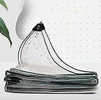 ターポリン防水ヘビーデューティー、アイレット付き厚さ0.3mm防水PVCプラスチックタープ、ガーデンクリア防水タープ凍結防止防雨フィルム布断熱キャノピー(サイズ:1x2.5m / 3.3x8.2ft)