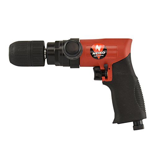 Neiko 30098A Composite Reversible 1/2' Air Drill with Keyless Chuck and Handle, 90 PSI