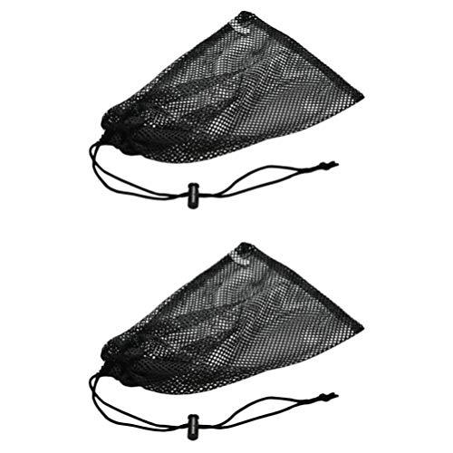Cabilock 2Pcs Cinch Bolsa de Almacenamiento Bolsa con Cordón de Malla Bolsas de Cancionero para Camping Bolsa de Almacenamiento de Equipo Deportivo Bolsa de Malla Resistente con Cordón